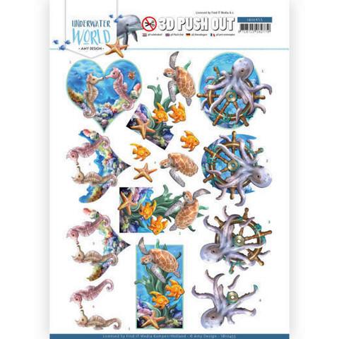 Amy Design Underwater World 3D-kuvat Sea Animals