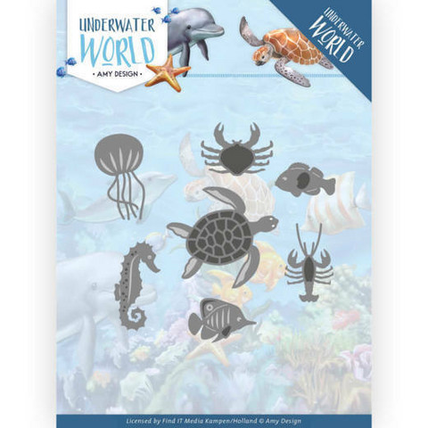 Amy Design Underwater World stanssisetti Ocean Animals