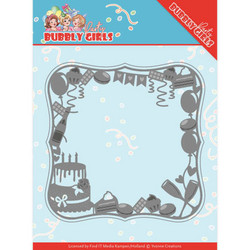 Yvonne Creations Bubbly Girls Party stanssisetti Celebrations Frame