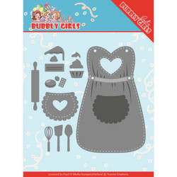 Yvonne Creations Bubbly Girls Party stanssisetti Apron