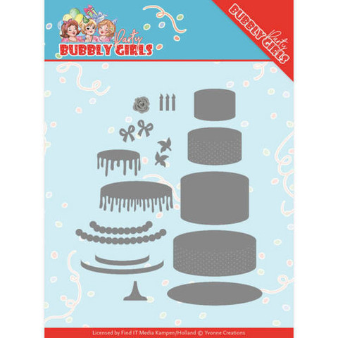 Yvonne Creations Bubbly Girls Party stanssisetti Birthday Cake