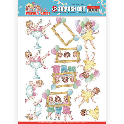 Yvonne Creations Bubbly Girls Party 3D-kuvat Let's Have Fun