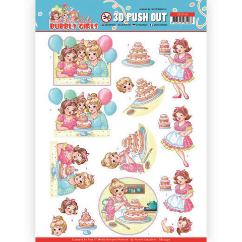Yvonne Creations Bubbly Girls Party 3D-kuvat Baking