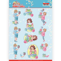 Yvonne Creations Bubbly Girls Party 3D-kuvat Decorating, leikattava