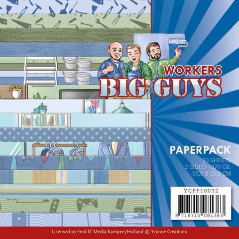 Yvonne Creations paperipakkaus Big Guys Workers
