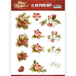 Precious Marieke Touch of Christmas 3D-kuvat Red Flowers
