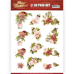 Precious Marieke Touch of Christmas 3D-kuvat Pink Flowers