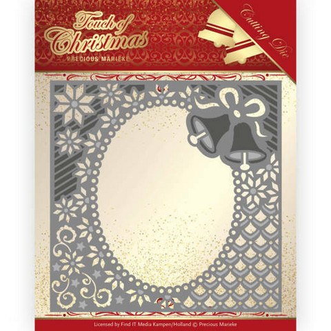 Precious Marieke Touch of Christmas stanssi Christmas Bells Frame