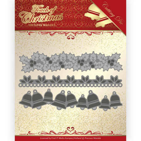 Precious Marieke Touch of Christmas stanssisetti Christmas Borders