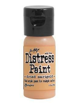 Distress Paint -akryylimaali, sävy dried marigold