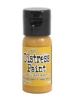 Distress Paint -akryylimaali, sävy fossilized amber
