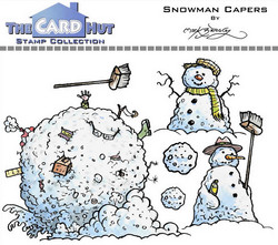 The Card Hut leimasinsetti Snowman Capers