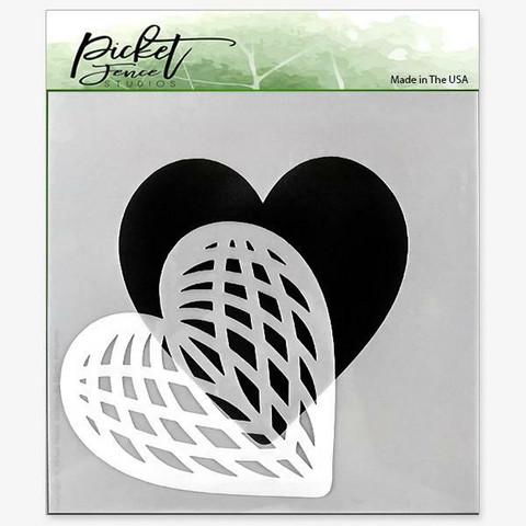 Picket Fence sapluuna Spliced Heart