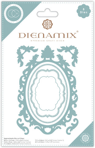 Craft Consortium Dienamix stanssisetti A5 Ornate Oval Frame