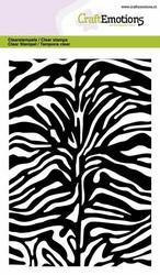 CraftEmotions leimasin Zebra Print