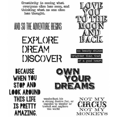 Stampers Anonymous, Tim Holtz leimasinsetti Life Quotes
