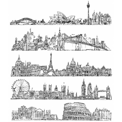Stampers Anonymous, Tim Holtz leimasinsetti Cityscapes