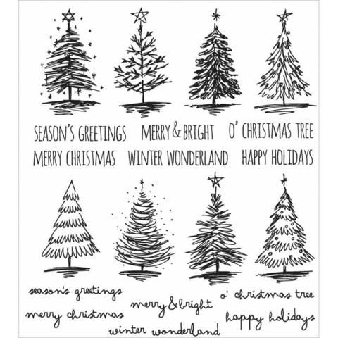Stampers Anonymous, Tim Holtz leimasinsetti Scribbly Christmas
