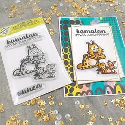 Leimasinsetti Kamala Luonto, Juhlitaan (korttipaja.fi)