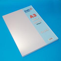 CraftUK Premium -kartonki, valkoinen, A3, 300 gsm, 50 arkkia