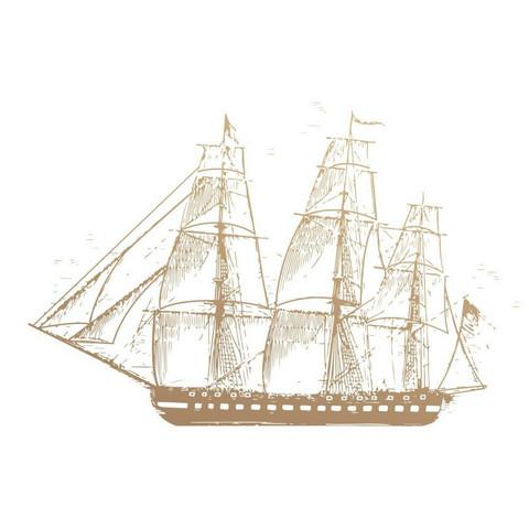 Couture Creations New Adventures leimasin Sailboat