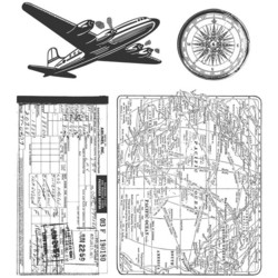 Stampers Anonymous, Tim Holtz leimasinsetti Air Travel