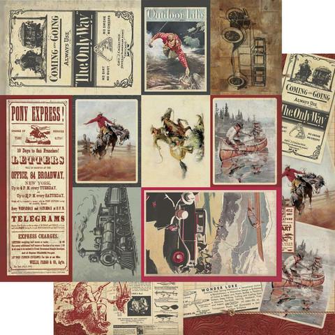 Authentique Manly skräppipaperi Multi Size Cut-Apart Cards