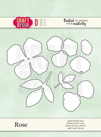 Craft & You stanssisetti Rose