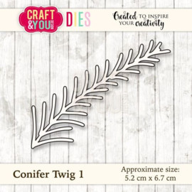 Craft & You stanssi Conifer Twig 1