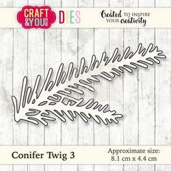 Craft & You stanssi Conifer Twig 3