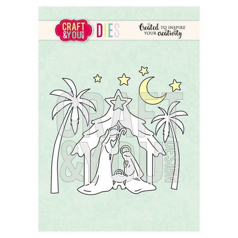 Craft & You stanssisetti Christmas Nativity 2
