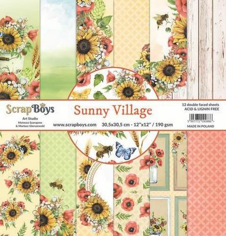 ScrapBoys paperipakkaus Sunny Village,12