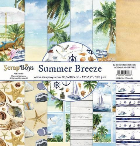 ScrapBoys paperipakkaus Summer Breeze,12