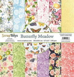 ScrapBoys paperipakkaus Butterfly Meadow, 12