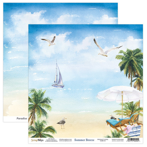 ScrapBoys Summer Breeze skräppipaperi 01