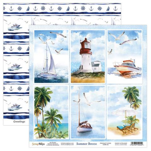 ScrapBoys Summer Breeze skräppipaperi 06