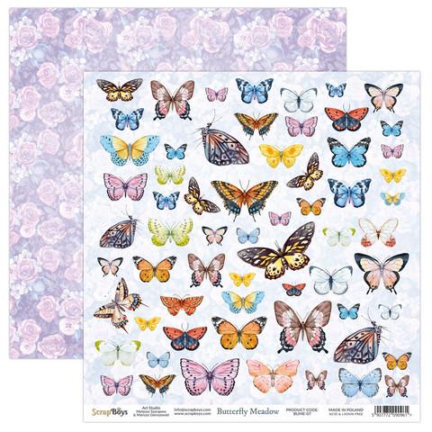 ScrapBoys Butterfly Meadow skräppipaperi 07