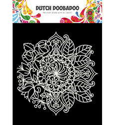 Dutch Doobadoo Mandala with Flower -sapluuna
