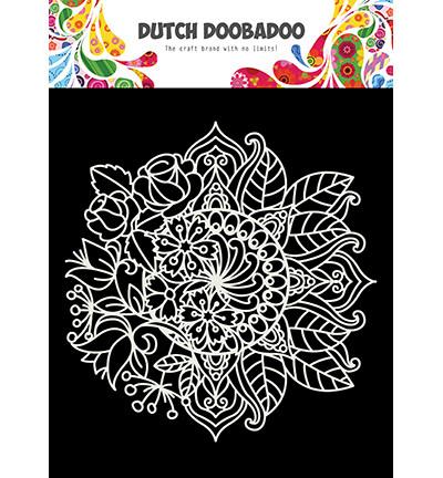 Dutch Doobadoo Mandala with Flower -sapluuna