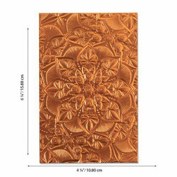 Sizzix 3-D Texture Fades A6 kohokuviointikansio Floral Mandala