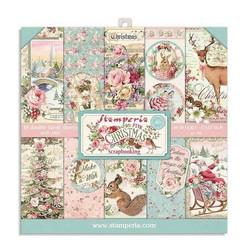 Stamperia paperipakkaus Pink Christmas, 8
