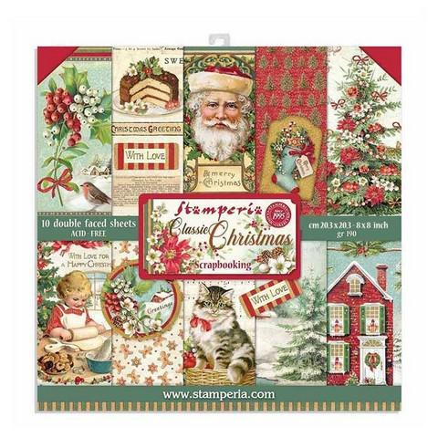 Stamperia paperipakkaus Classic Christmas, 8