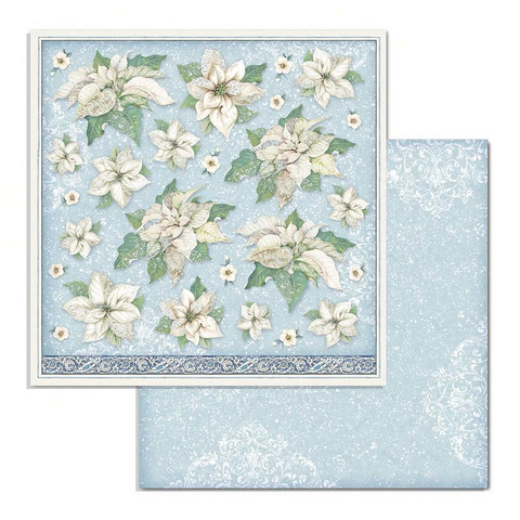 Stamperia Winter Tales skräppipaperi Poinsettia