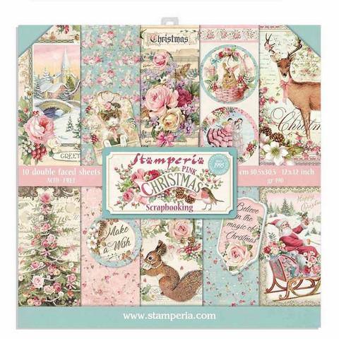 Stamperia paperipakkaus Pink Christmas, 12