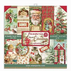 Stamperia paperipakkaus Classic Christmas, 12