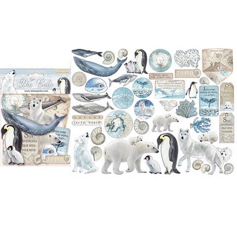 Stamperia leikekuvat Arctic Antarctic