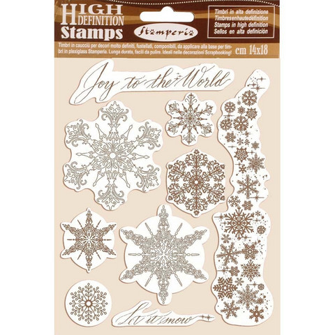 Stamperia leimasinsetti Snowflakes