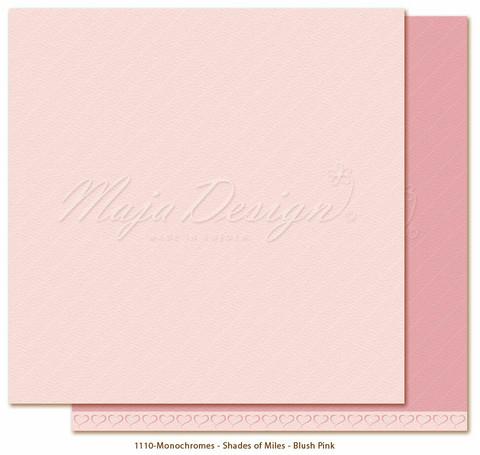 Maja Design Monochromes - Shades of Miles  skräppipaperi Blush Pink