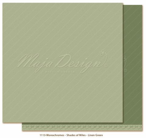 Maja Design Monochromes - Shades of Miles  skräppipaperi Linen Green