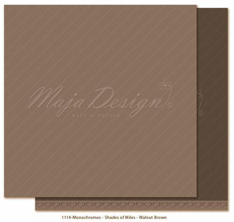 Maja Design Monochromes - Shades of Miles  skräppipaperi Walnut Brown